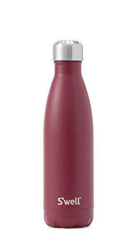 S'well Vacuum Insulated Stainless Steel Water Bottle, 17 oz, Velvet (Velvet Bottle)