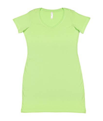Lat Womens Fine Jersey Crossover V-Neck Coverup Dress,Key Lime,Large/X-Large]()