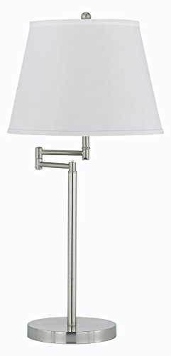 Brushed Steel Andros 1 Light Swing Arm Lamp
