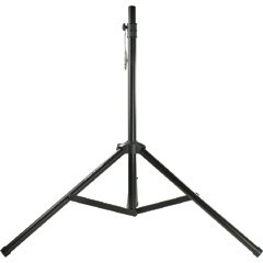 Pyle PSTND1 Tripod Speaker Stand With Mounting Plate - Black