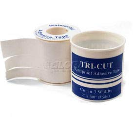 Adhesive Tape, Tri-Cut, 3/8'', 5/8'', 1'' W x 5 yds, 1/Roll, (Pack of 10) (61101) by Medique Products