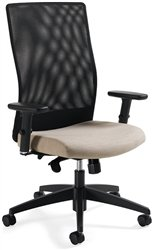 Global Weev 2220-1 Contract Quality High Back Synchro Tilt Mesh Chair