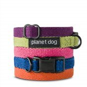 Planet Dog Hemp Fleece Lined Collar, Adjustable, Machine Washable, Hypoallergenic, Large 18-28 Inch Neck, Green