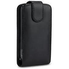 new arrival 01f99 e8a58 Black Leather Flip Case Skin Cover For Nokia E5: Amazon.co.uk ...