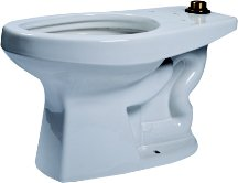 High Efficiency Commercial ADA Floor Mounted Flushometer Elongated Toilet Bowl Only Finish: Cotton