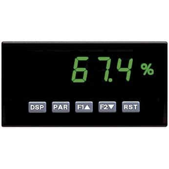 (Red Lion PAXH0100 Panel Meter with RMS Volt and Current Inputs; Green LCD)