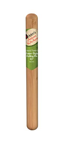 Helen's Asian Kitchen 97137 Dumpling Rolling Pin 10-Inches Natural Bamboo