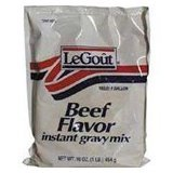 LeGout Instant Beef Flavor Gravy Mix, 16-Ounce Bags (Pack of 8)