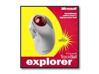 Microsoft Trackball Explorer - Trackball - optical - 5 button(s) - wired - PS/2, USB - retail by Microsoft