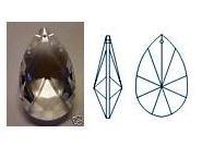 """Asfour 1.5"""" 30% Lead Teardrop Suncatcher Crystal Prism"""