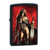 Zippo Kit Rae Woman W/Sword Pocket Lighter 24787 - Kit Rae Zippo