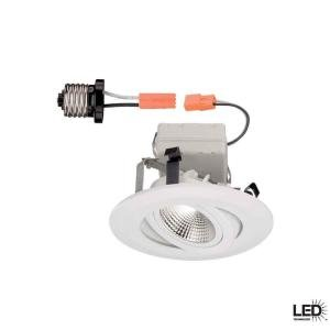 "Commercial Electric LED T41 4"" Recessed Light 3000k White"