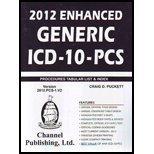 2012 Enhanced Generic ICD-10 PCS, Puckett, Craig, 1933053410