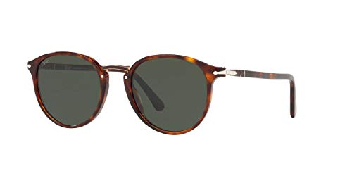 Persol PO3210S 24/31 Havana PO3210S Oval Sunglasses Lens Category 3 Size 51mm
