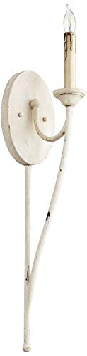 Quorum Lighting 5650-1-70, Brooks Torchiere Wall Sconce Lighting, 20 Watts, Persian White ()