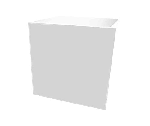 Marketing Holders Acrylic Jewelry Display Box Cube Toys Trinkets Collectible Items Safety Dust Cover Square 5 Sided Show Case Art Easel Pedestal Display 14''w x 14''h x 14''d White Pack of 1 by Marketing Holders (Image #3)