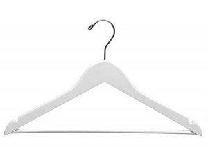 Wood Suit Hangers White Finish