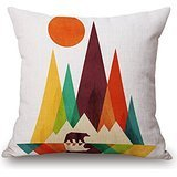 Beautifulseason Geometric Throw Pillow Case 20 X 20 Inches / 50 By 50 Cm Best Choice For Wife,floor,deck Chair,wedding,car,living Room With 2 Sides
