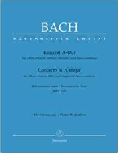 Book BACH - Concierto en La Mayor (BWV:1055) para Oboe y Piano (Urtext) (Biggam)