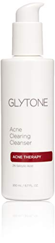 - Glytone Acne Clearing Cleanser with 2% Salicylic Acid for Blemish Prone Skin, Fragrance-Free, Oil-Free, 6.7 oz.