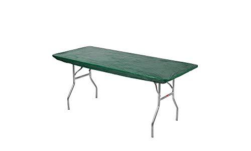 Kwik-Covers 6 Rectangle Plastic Table Covers 30 x 72, Bundle of 5 (Hunter Green)