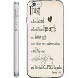 iPhone 6S Plus Case Drop Protection TPU Bumper Case for Apple iPhone 6 Plus (2014) / 6S Plus (2015) Trust in the Lord with All Thine Heart and Lean not unto thine Own Understanding Proverbs 3:5.6