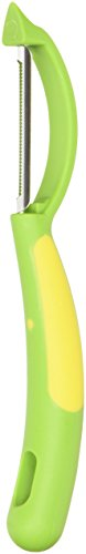 Kuhn Rikon Piranha Swivel Peeler, Green/Yellow