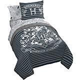 Jay Franco Harry Potter Draco Dormiens 7 Piece Full Bed Set, Gray ()