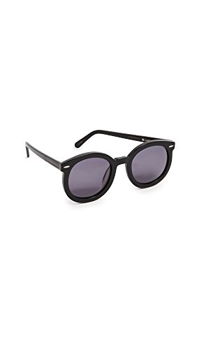 Karen Walker Women's Alternative Fit Super Duper Strength Sunglasses, Black/Smoke Mono, One ()