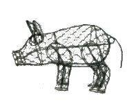 Pig 7''H Topiary Frame, Handmade Animal Decoration