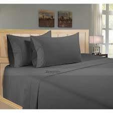 Ultra Soft Sheet Set (4 Piece) 100% Egyption Cotton 12 inches Deep Pocket. Elephant Grey TiwnXL