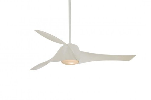 Minka-Aire F803L-WH, Artemis LED White 58 Ceiling Fan with Light Wall Control