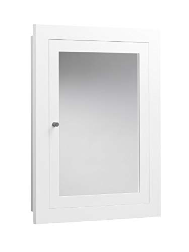 RONBOW Frederick 24 x 32 Transitional Solid Wood Frame Bathroom Medicine Cabinet in White, 2 Mirrors and 2 Cabinet Shelves 618125-W01