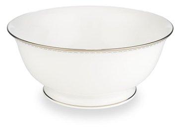 Lenox Pearl Platinum Bone China Serving Bowl