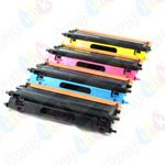 Compatible TN115's High Yield Laser Toner Cartridge for Brother: 1 each of Black TN115BK, Cyan TN115C, Magenta TN115M, Yellow TN115Y, Office Central