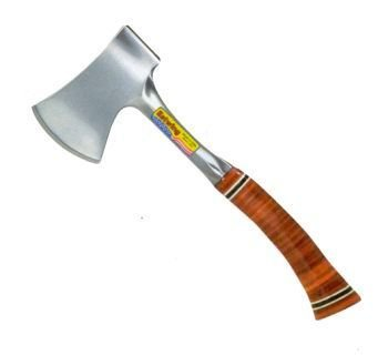 """Estwing Sportsman's Axe - 12"""" Camping Hatchet with Forged Steel Construction & Genuine Leather Grip - E14A"""