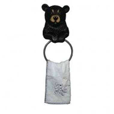 Hugo The Helper Black Bear Towel Holder Decoration