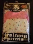 Gerber 3 Pack Girl's Assosrted Training Pants Size 2t – 28-32 Lbs, Health Care Stuffs