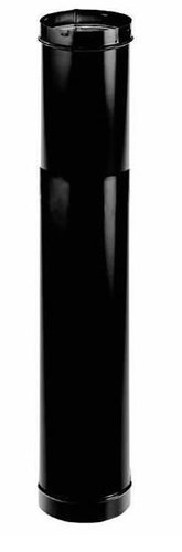 6'' DuraBlack Telescoping Black Stove Pipe Length - 1647 (Stove Pipe Accessories)