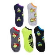 [Teenage Mutant Ninja Turtle Men's 5 pk No Shows (10-13) Assorted Colors] (Adult Ninja Turtle)