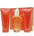 Givenchy Amarige Gift Set for Women (Eau De Toilette Spray, Silk Body Veil, Delicate Bath Gel) ()