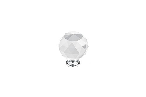 Richelieu Eclectic Metal Knob (Richelieu Hardware - BP87374014011 - Eclectic Crystal Knob - 8737 - Clear Crystal Chrome  Finish)