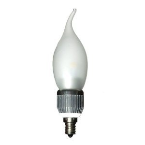 CrystalPlace LED 5 Watt Frosted Dimmable Candelabra Base Flame Tip Warm Light E12 120 Volt, Brightest 60 Watt Bulb Replacement, Decorative and Energy Efficient with Years of Performance