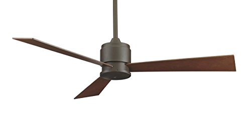 Fanimation Bronze Oil (Fanimation Zonix - 54 inch - Oil-Rubbed Bronze with Cherry/Walnut Reversible Blades and Wall Control - FP4620OB)