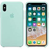 iPhone X Silicone Case, Liquid Silicone Gel Rubber Shockproof Case and Ultra Soft Microfiber Cloth Lining Cushion for Apple iPhone X/10 (Marine Green)