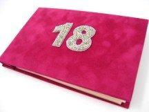 18th Birthday Pocket Photo Album in Fuchsia