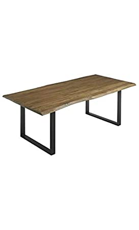 Table A Manger Bois Clair.Camino A Casa Table A Manger Bois Clair Et Metal Jungle