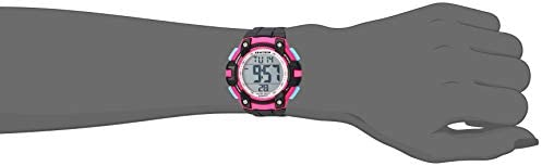 Armitron Sport Women s 45 7108PBK Magenta Accented Digital Chronograph Black Resin Strap Watch