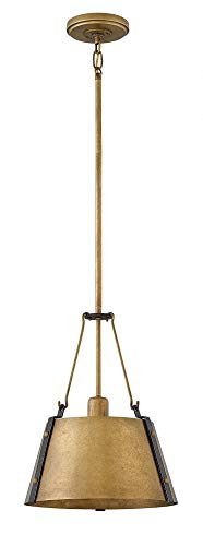 Hinkley 3397RS Cartwright Chandelier, 1-Light 100 Watts, Rustic Brass ()