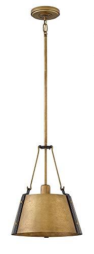 (Hinkley 3397RS Cartwright Chandelier, 1-Light 100 Watts, Rustic Brass)